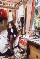 Helena Bonham Carter in casa, 1980 circa