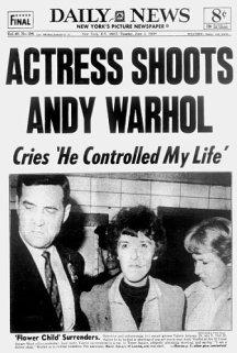 Il Daily news riporta la notizia del tentato omicidio di Andy Warhol