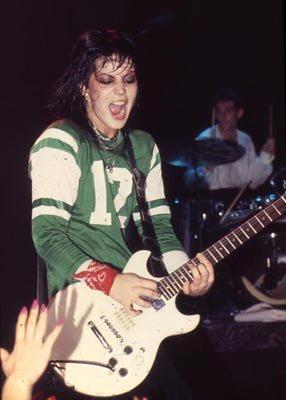 Joan Jett si esibisce in Norvegia, 1980