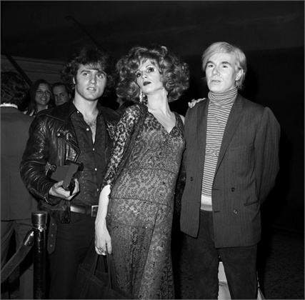 Premiere Midnight Cowboy, 1969 Andy Warhol, Candy Darling e Gerard Malanga, New York ©Corbis