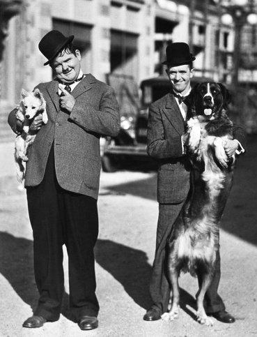 Foto pubblicitaria di Stanlio e Ollio, 1932