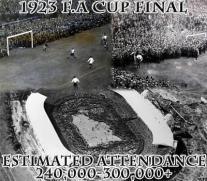 La finale 1923 di FA Cup tra Bolton Wanderers e West Ham United il 28 aprile allo stadio di Wembley
