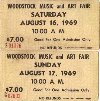 Biglietti per Woodstock, 1969