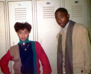 Tupac e Jada Pinkett al liceo a Baltimora nel Maryland, 1980