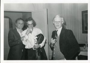 Andy Warhol con Larry Rivers eFrançois de Menil