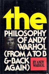 The Philosophy of Andy Warhol, copertina della prima edizione