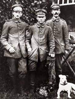 Adolf Hitler durante la sua permanenza in un ospedale militare, 1918