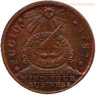 """Benjamin Franklin ha progettato una delle prime monete degli Stati Uniti, e invece di scrivere """"In God We Trust"""", ha fatto scrivere """"Mind Your Business"""""""