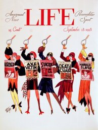 Cover di Life Magazine, 28 Settembre 1928. Illustrazione di Russell Patterson