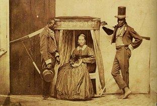 Donna coi suoi schiavi, Brasile 1860