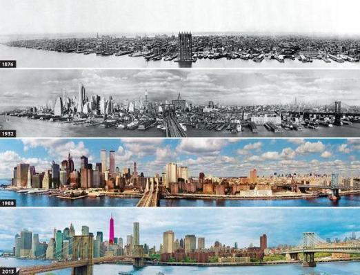 Evoluzione dello skyline di New York dal 1876