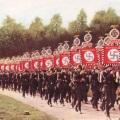 Foto a colori della Germania nazista prima della guerra - La cerimonia era considerata come arte