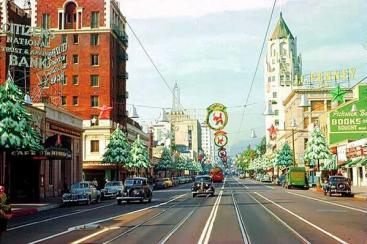 Hollywood Boulevard a Los Angeles, 1946