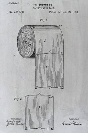 Il brevetto di 124 anni che risolve il dibattito 'sopra o sotto' del rotolo di carta igienica