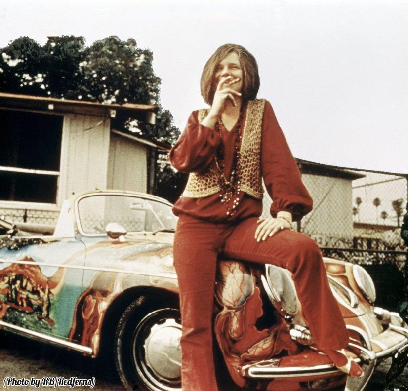 Janis Joplin con la sua Porsche 356C 1965 Cabriolet, 1969