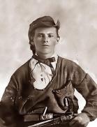 Jesse James, noto criminale americano, all'età di 16 anni