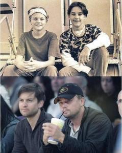 Leonardo DiCaprio e Tobey Maguire, allora e adesso