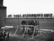 L'esecuzione dei cospiratori di Lincoln, 1865