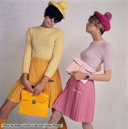 Moda anni '60 in Francia, con Twiggy a destra