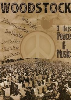 Poster di Woodstock, 1969
