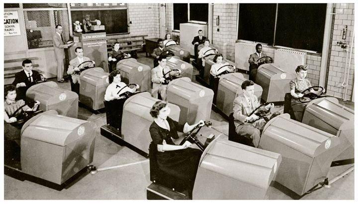 Scuola di guida a Brooklyn, 1955