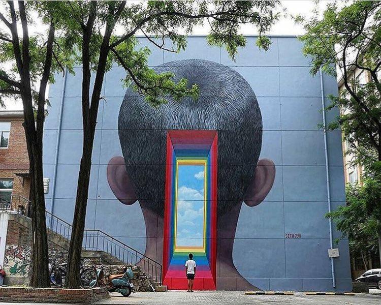 Seth Globepainter @Pechino, Cina