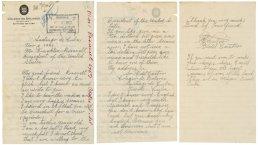 Una lettera di Fidel Castro a Franklin D. Roosevelt dove gli chiede 10 dollari
