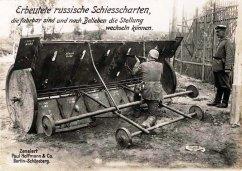 Uno scudo russo mobile regolabile catturato dai tedeschi, 1914