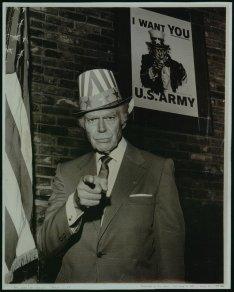 Walter Botts, l'uomo che ha fatto da modello per lo Zio Sam per il famoso poster di J.M. Flagg