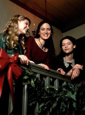 Winona Ryder, Claire Danes e Kirsten Dunst sul set di Piccole Donne, 1994