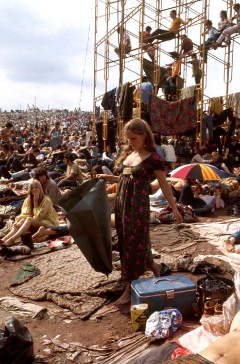 Woodstock 1969. Fotografia di John Dominis