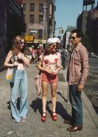 Billie Perkins, Jodie Foster e Robert De Niro sul set di Taxi Driver, 1975