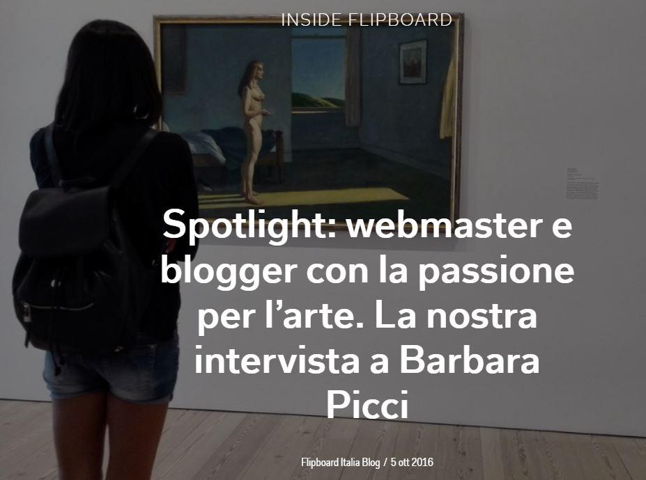 Intervista per Flipboard Italia