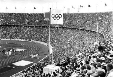 Stadio Olimpico di Berlino durante i Giochi del 1936