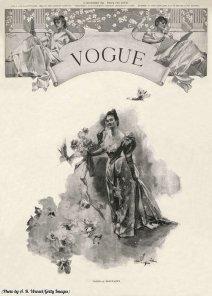 Il primo numero in assoluto di Vogue, 1892.