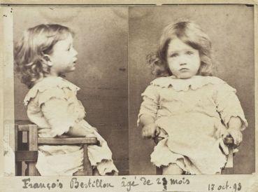 1893 foto segnaletica di François Bertillon, figlio di Alphonse Bertillon, che ha inventato le foto segnaletiche