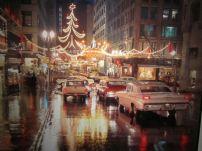 1960, Centro di Kansas City, luci di Natale