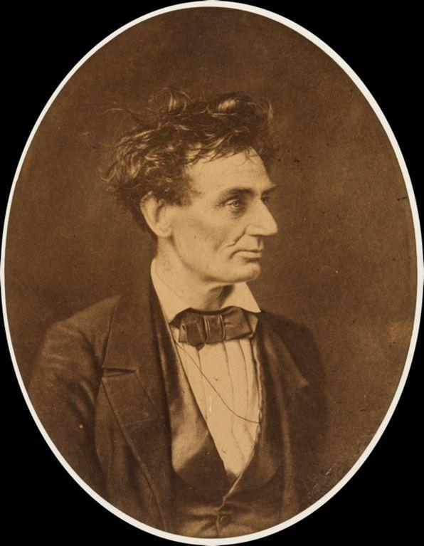 Abraham Lincoln coi capelli ribelli, 1857