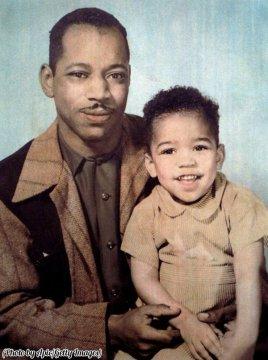 Al Hendrix e il suo figlio di 3 anni, Jimi Hendrix 1945