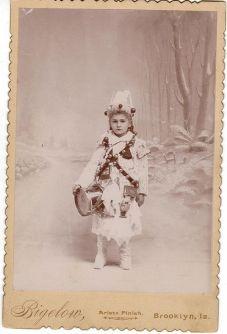 Bambina natalizia vintage