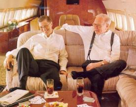 Bill Gates e Warren Buffett. Patrimonio netto combinato $ 130.000.000.000