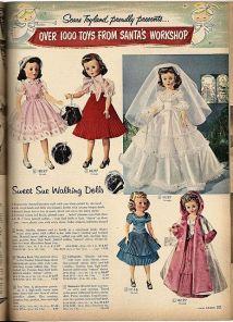 Catalogo Natalizio di Babbo Natale per bambine, 1957