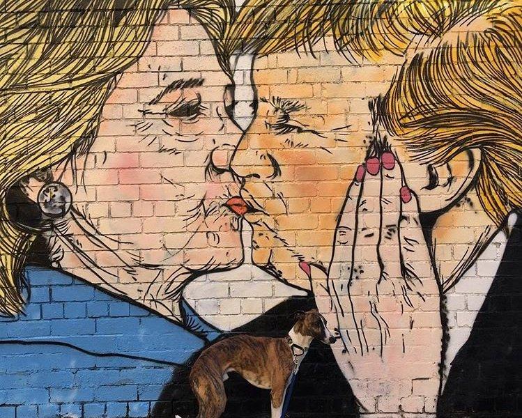 Clinton kissing Trump by Lushsux