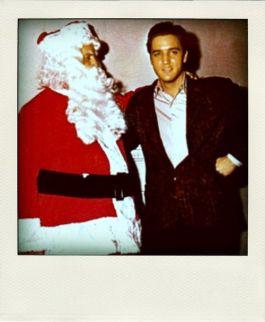 Elvis con Santa Claus