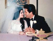 Elvis e Priscilla Presley il giorno delle nozze, '67