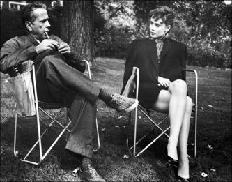 Humphrey Bogart e Audrey Hepburn