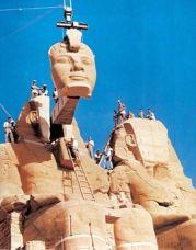 Il trasferimento dei templi di Abu Simbel in Nubia, Egitto, tra il 1964 e il 1968