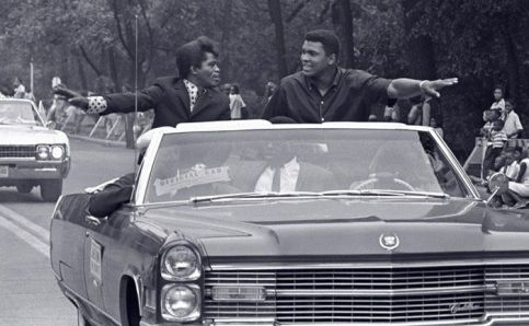 James Brown e Muhammad Ali, Grand Marshals della Bud Billiken Parade, Chicago 1968