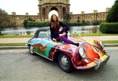 Janis Joplin e la sua 1965 Porsche 356C, San Francisco 1968