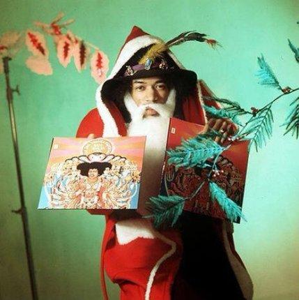 Jimi Hendrix vestito da Santa Claus, 1967
